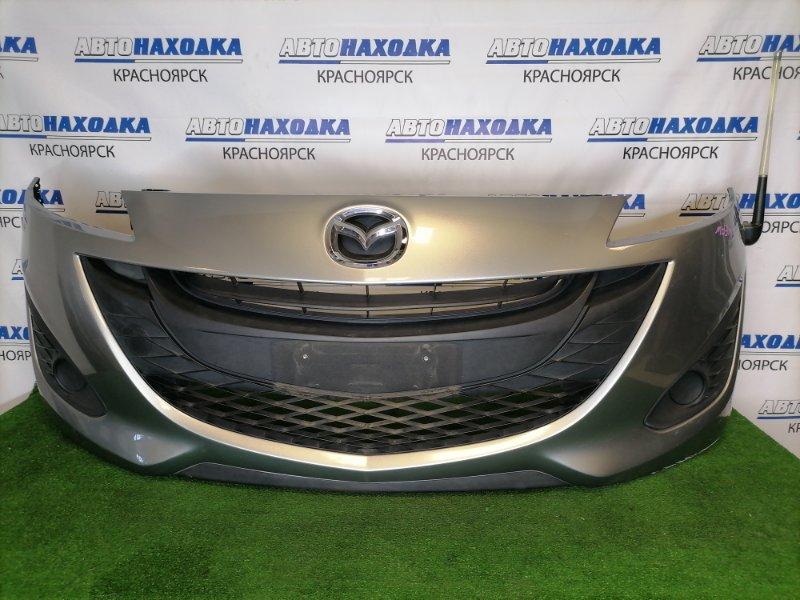 Бампер Mazda Premacy CWEFW LF-VDS 2010 передний Передний, серый, с заглушками, есть потертости,