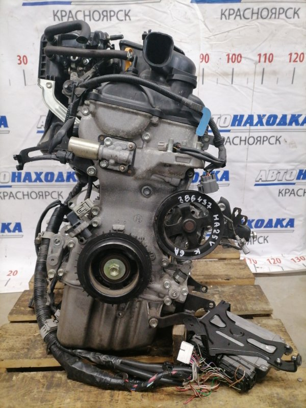 Двигатель Suzuki Alto HA25V K6A 2009 № A774140, пробег 52 т.км. Без навесного. На ДВС есть впуск,