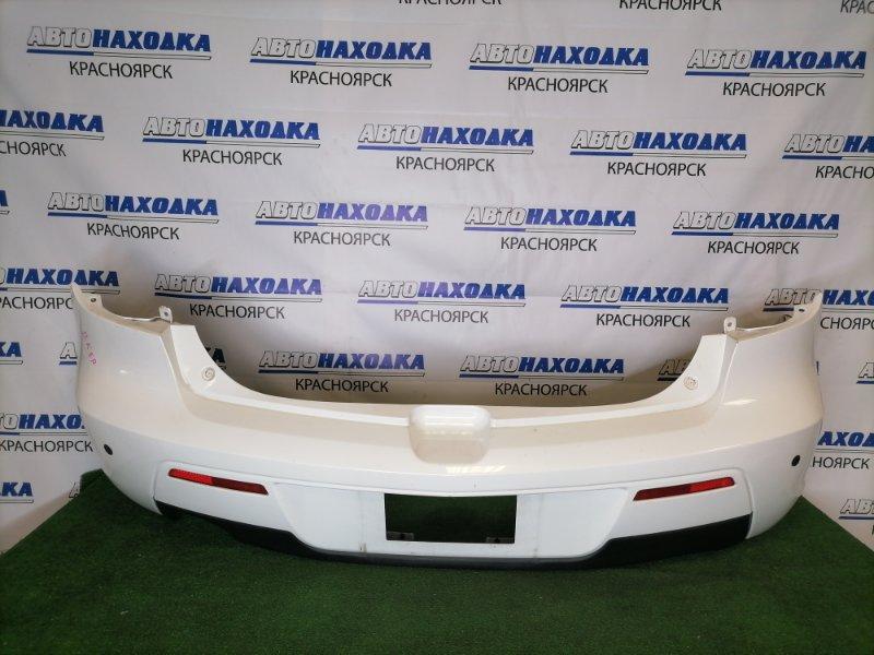 Бампер Mazda Axela BKEP LF-VE 2006 задний Задний, белый перламутр, рестайлинг (2 модель), хэтчбек,