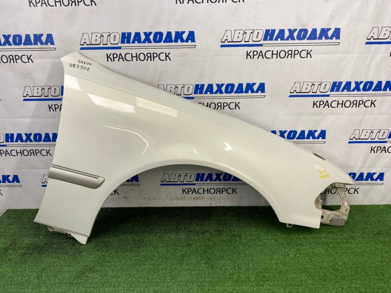 Крыло Toyota Mark Ii GX100 1G-FE 1996 переднее правое переднее правое, белый перламутр, сколы,