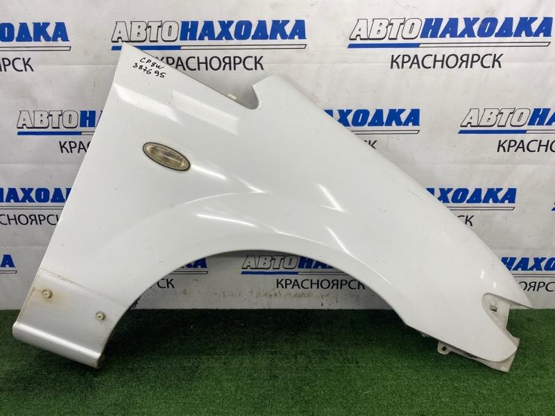 Крыло Mazda Premacy CP8W FP-DE 1999 переднее правое переднее правое, белое, с белым повторителем, с