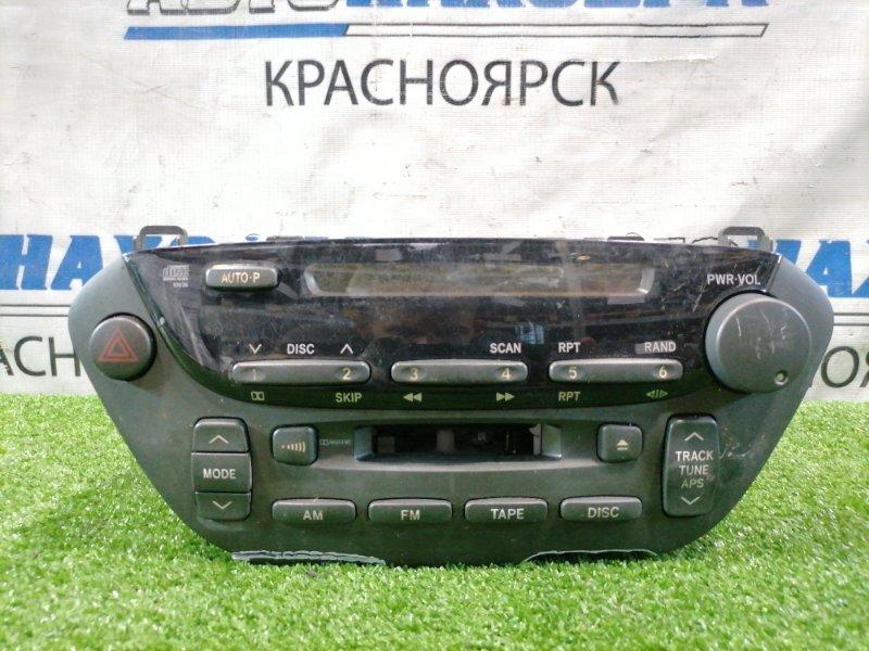 Магнитола Toyota Vista ZZV50 1ZZ-FE 2000 86120-32510 штатная магнитола TOYOTA, СD/ AM / FM, с кнопкой