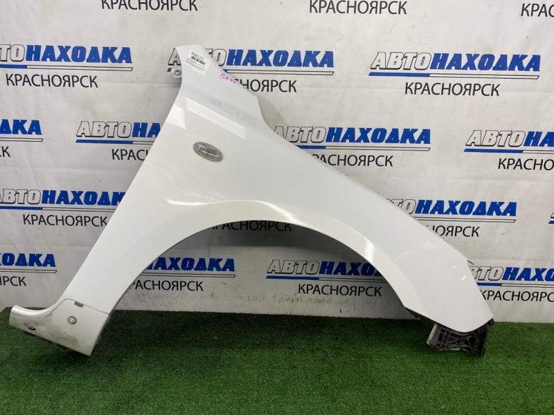 Крыло Mazda Axela BKEP LF-DE 2003 переднее правое ХТС, переднее правое, белый перламутр, хэтчбек, с