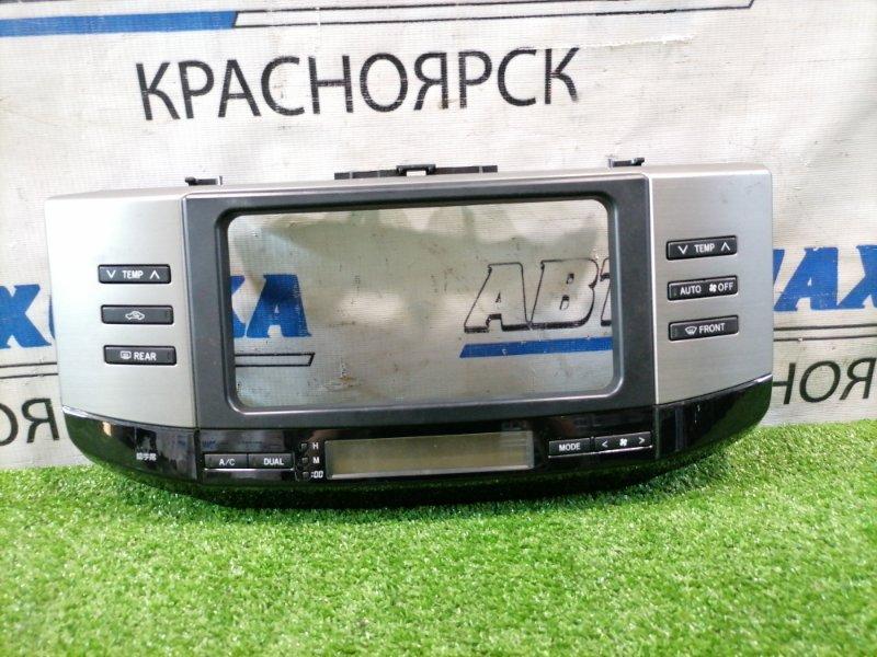 Климат-контроль Toyota Mark X GRX120 4GR-FSE 2006 84010-A22040 с рамкой магнитолы и часами.