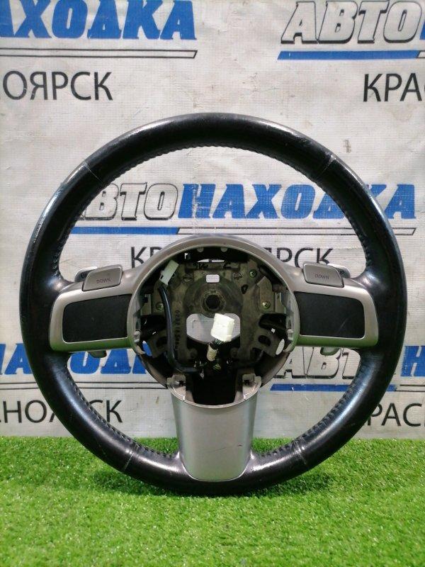 Руль Mazda Demio DE3FS ZJ-VE 2007 кожа, с кнопками управления КПП, без AIRBAG, есть потертости,