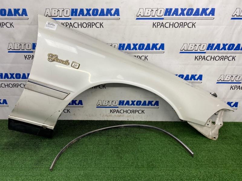 Крыло Toyota Mark Ii GX81 1G-FE 1988 переднее правое Переднее правое, белый перламутр, с маячком,