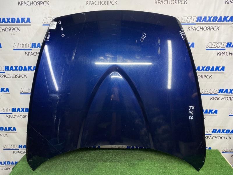 Капот Mazda Rx-8 SE3P 13B-MSP 2003 передний Синий, алюминиевый, есть вмятинки, потертости,