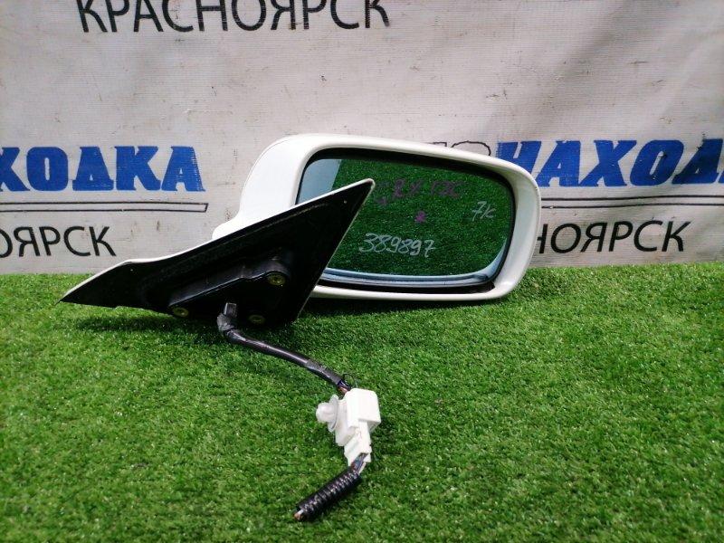 Зеркало Toyota Mark X GRX120 4GR-FSE 2004 переднее правое правое, 7 контактов, есть мелкие сколы.