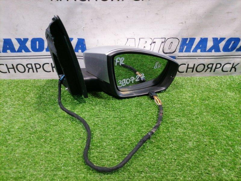 Зеркало Volkswagen Polo 6R1 CBZB 2008 переднее правое Правое, 8 контактов, с повторителем. Есть