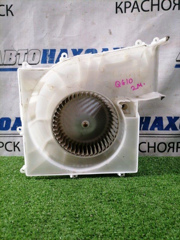 Мотор печки Nissan Bluebird Sylphy QG10 QG18DE 2000 272008N400 В сборе, с корпусом, с фишкой 2 контакта,