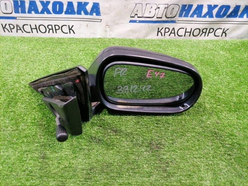 Зеркало Honda Partner EY7 D15B 1995 переднее правое Правое, механическое. Есть потертости, треснут
