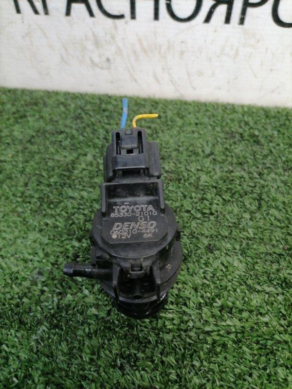 Мотор омывателя Toyota Isis ZNM10W 1ZZ-FE 2007 на лобовое стекло, 1 выход, 2 контакта