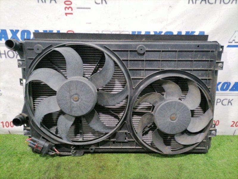 Радиатор двигателя Volkswagen Golf 1K1 BLF 2003 С диффузором и вентиляторами. GOLF V