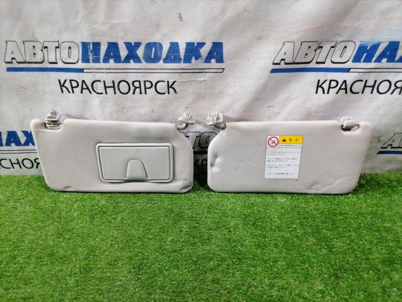 Козырек солнцезащитный Suzuki Cervo HG21S K6A 2006 84802-72J01-J0T пара L+R, водительский с зеркалом,