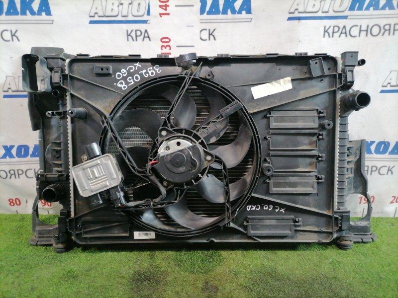 Радиатор двигателя Volvo Xc60 DZ44 B4204T6 2008 под АКПП, с диффузором и вентилятором + блок