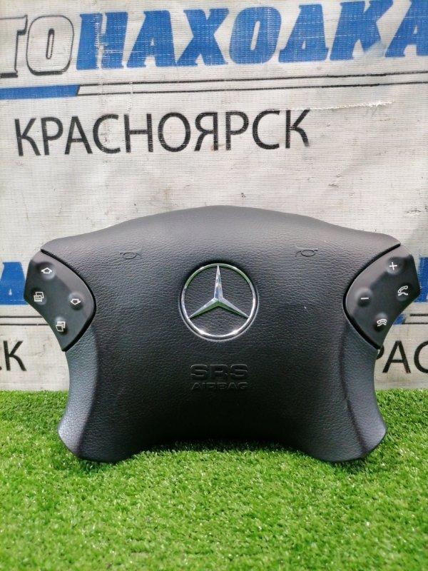 Airbag Mercedes-Benz C180 W203 M271E18 2000 Водительский, заглушка в руль с кнопками, без заряда.