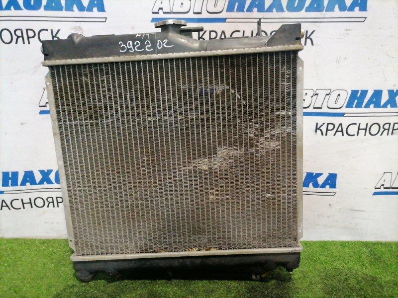 Радиатор двигателя Suzuki Jimny JB23W K6A-T 1998 Под АКПП. С диффузором и вентилятором.