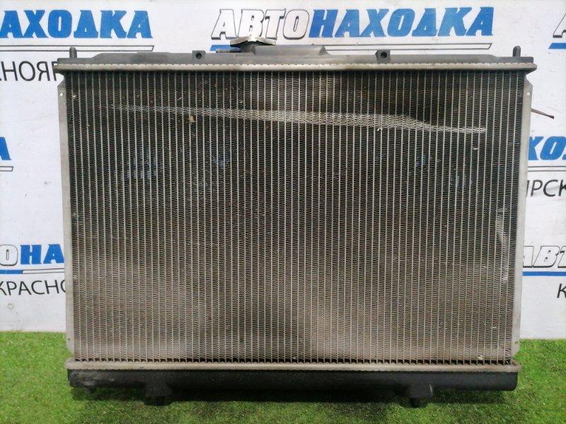Радиатор двигателя Mitsubishi Pajero Io H76W 4G93 1998 В сборе, с трубками АКПП, диффузорами,