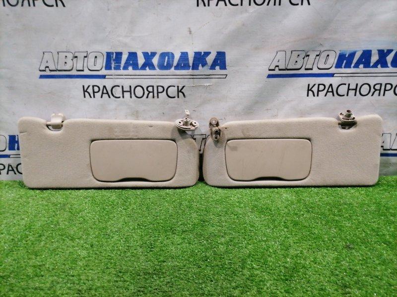 Козырек солнцезащитный Honda Odyssey RA6 F23A 1999 83280-S3R-J01ZB пара L+R, с зеркалами, под чистку.