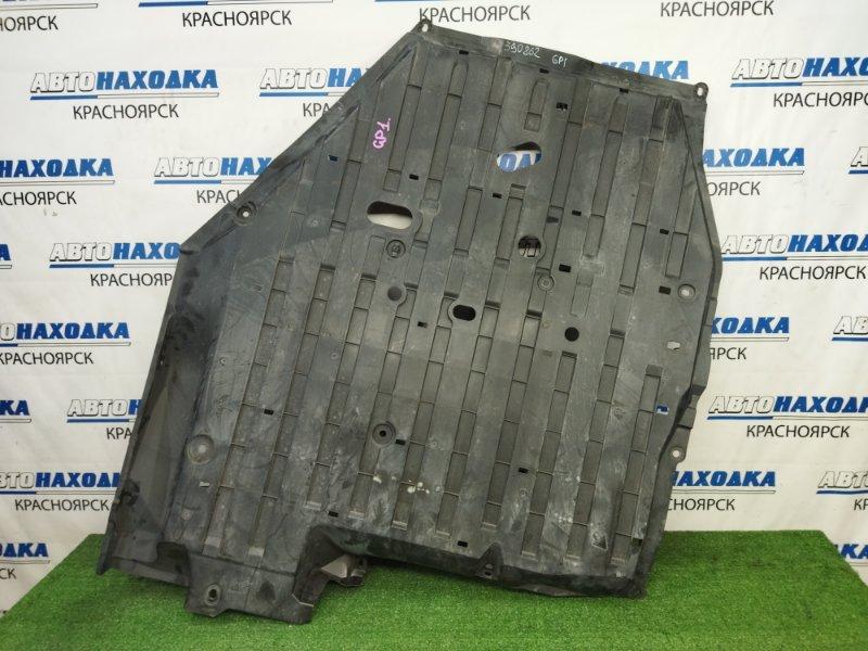 Защита Honda Fit GP1 LDA 2010 защита днища антигравийная, пластиковая, большая