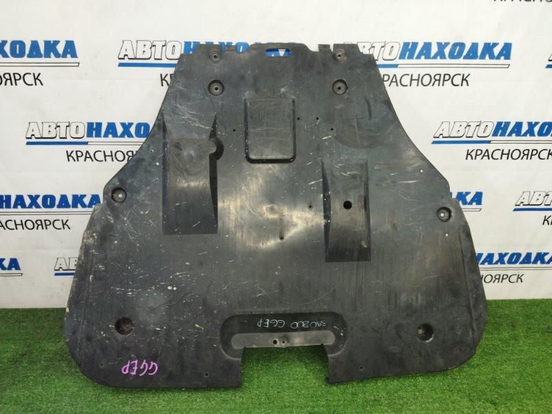 Защита двс Mazda Atenza GGEP LF-DE 2002 передняя центральная, сплошная, есть трещинки на крепежах