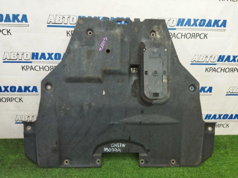 Защита двс Mazda Atenza GHEFW LF-VD 2010 передняя центральная, сплошная, дефект 1 крепежа