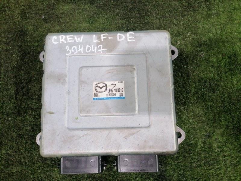 Компьютер Mazda Premacy CREW LF-DE 2005 Блок управления ДВС.