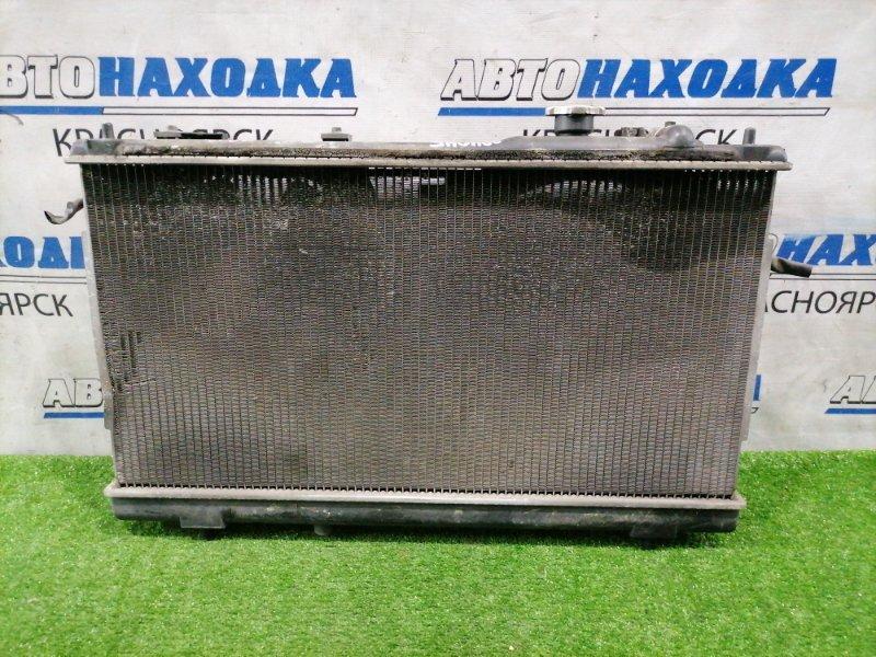 Радиатор двигателя Mazda Premacy CP8W FP-DE 1998 А/Т, в сборе, с диффузорами и вентиляторами.