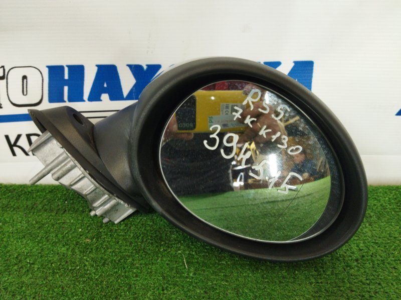Зеркало Mini Clubman R55 N18B16A 2008 переднее правое ХТС, переднее правое, серебристое, 7 контактов