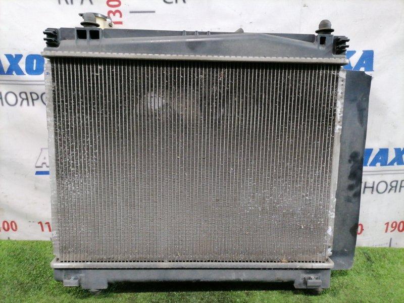 Радиатор двигателя Toyota Ractis NCP100 1NZ-FE 2005 с диффузором и вентилятором