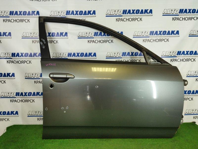 Дверь Nissan Wingroad WFY11 QG15DE 1999 передняя правая передняя правая, серая (K21), без стекла,