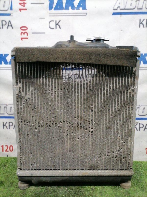 Радиатор двигателя Honda Partner EY7 D15B 1996 02406-319 под МКПП, с диффузором и вентилятором