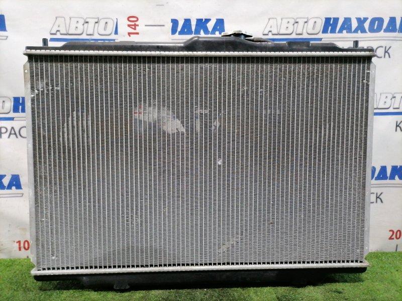 Радиатор двигателя Honda Odyssey RA8 J30A 2001 в сборе (2 диффузора, 2 вентилятора), охлаждение