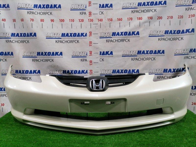 Бампер Honda Fit Aria GD6 L13A 2002 передний передний, цвет NH636P, 1 модель (дорестайлинг), с