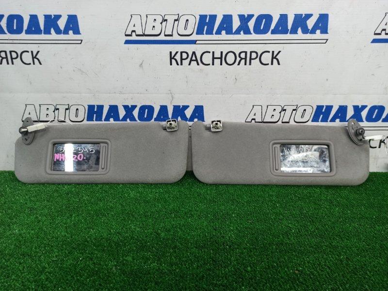 Козырек солнцезащитный Toyota Prius NHW20 1NZ-FXE 2005 ХТС, пара, левый + правый, с зеркалами, с