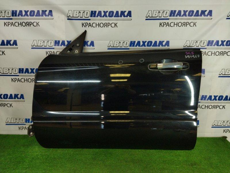 Дверь Subaru Forester SG5 EJ20 2002 передняя левая передняя левая, черная (32J), без стекла и