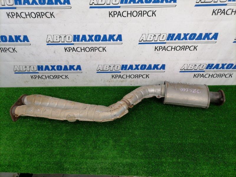 Глушитель Toyota Aristo JZS160 2JZ-GE 2000 труба приемная с резонатором