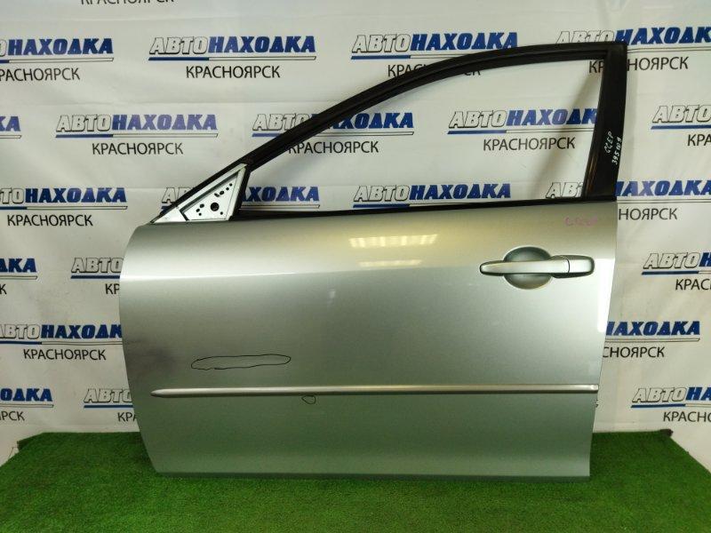 Дверь Mazda Atenza GGEP LF-DE 2002 передняя левая Передняя левая, серебристая, в сборе, вмятинки,
