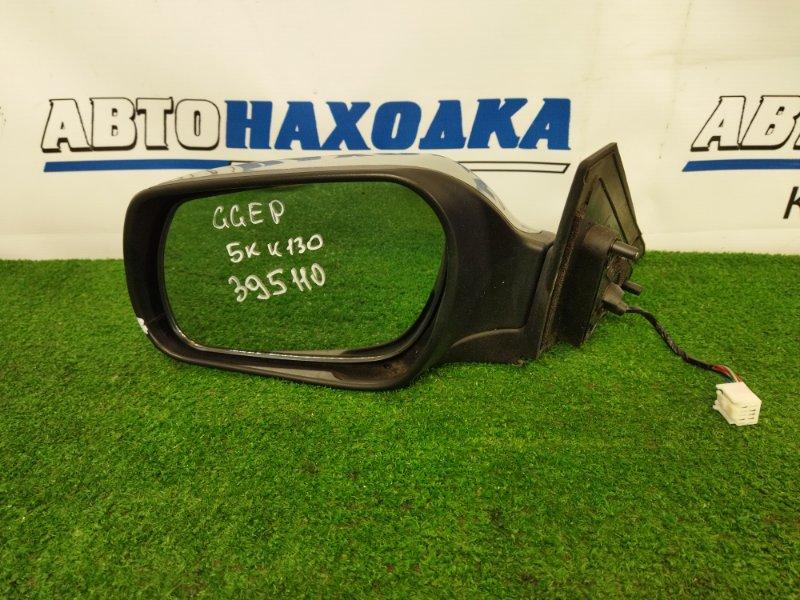 Зеркало Mazda Atenza GGEP LF-DE 2002 переднее левое левое, серебристое, трещинка на корпусе,