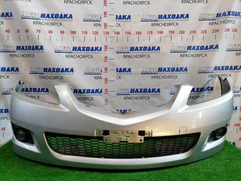 Бампер Mazda Atenza GG3S L3-VE 2005 передний Передний, цвет 22V, рестайлинг (2 мод.). Есть потертости