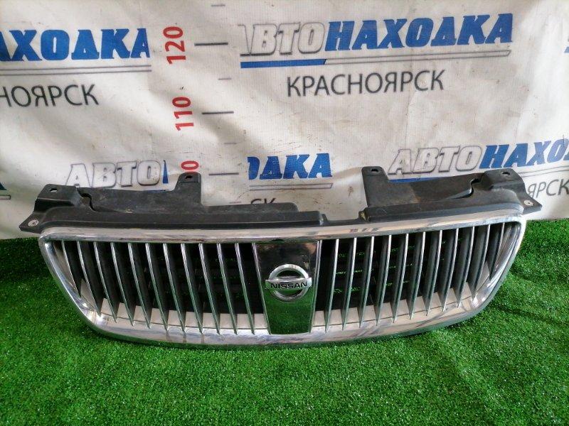 Решетка радиатора Nissan Bluebird Sylphy QG10 QG18DE 2003 Рестайлинг (2 мод.). Есть мелкие потертости.