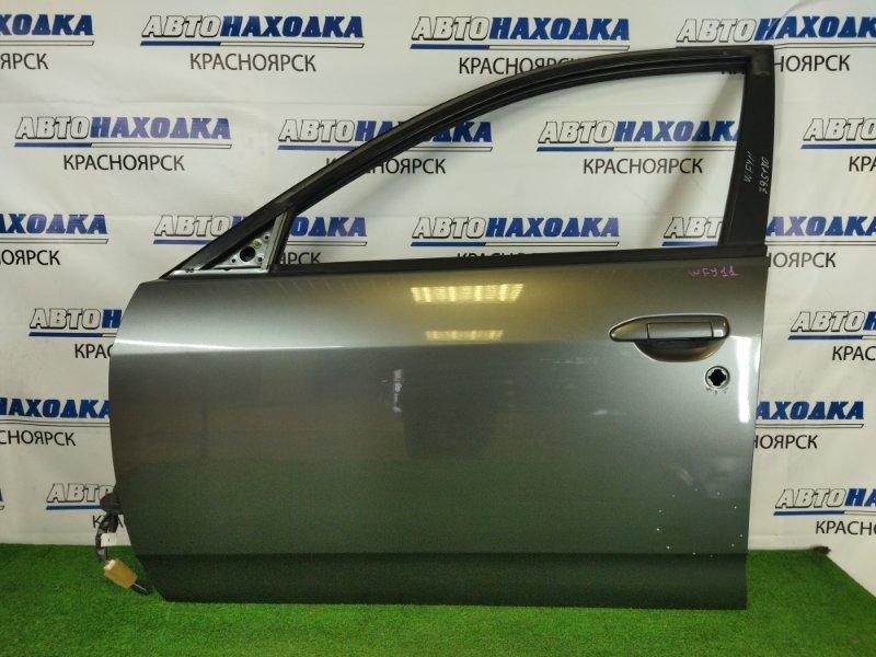 Дверь Nissan Wingroad WFY11 QG15DE 1999 передняя левая передняя левая, серая (K21), без стекла, петель и