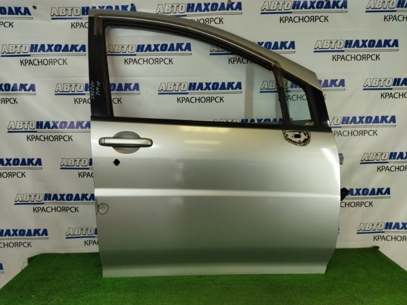 Дверь Nissan Liberty PM12 SR20DE 1998 передняя правая передняя правая, серебристая (KL0), без стекла,