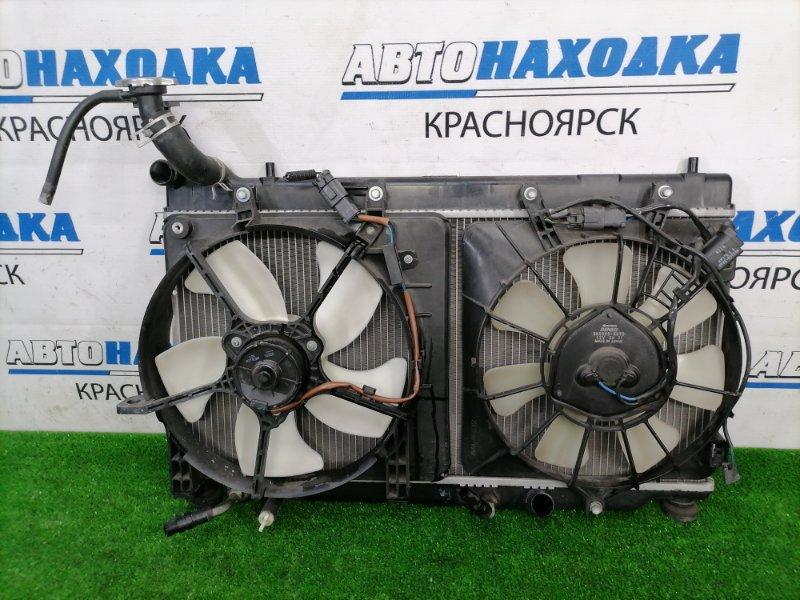 Радиатор двигателя Honda Fit GD1 L13A 2005 2 модель (широкий), с диффузорами и вентиляторами,