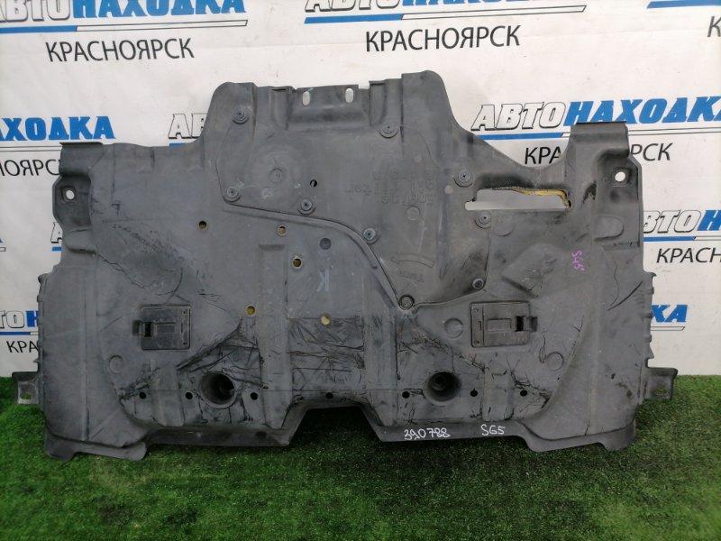 Защита двс Subaru Forester SG5 EJ20 2005 передняя сплошная, цельная, рестайлинг (2 модель)