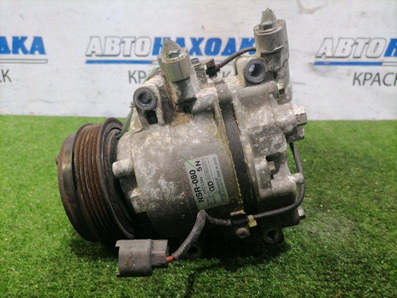 Компрессор кондиционера Honda Fit GD1 L13A 2005 NSR-080 2 мод. Пробег 48 т.км. С аукционного авто.