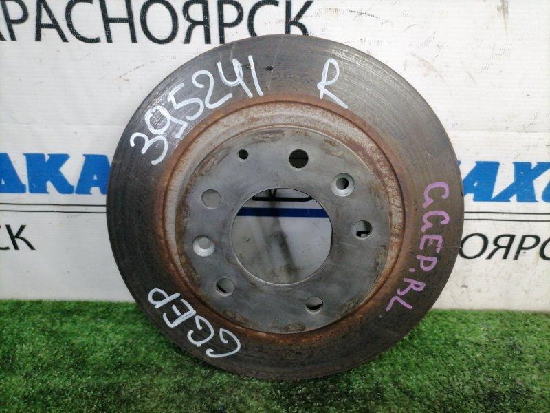 Диск тормозной Mazda Atenza GGEP LF-DE 2002 задний Задний, невентилируемый, диаметр 278 мм