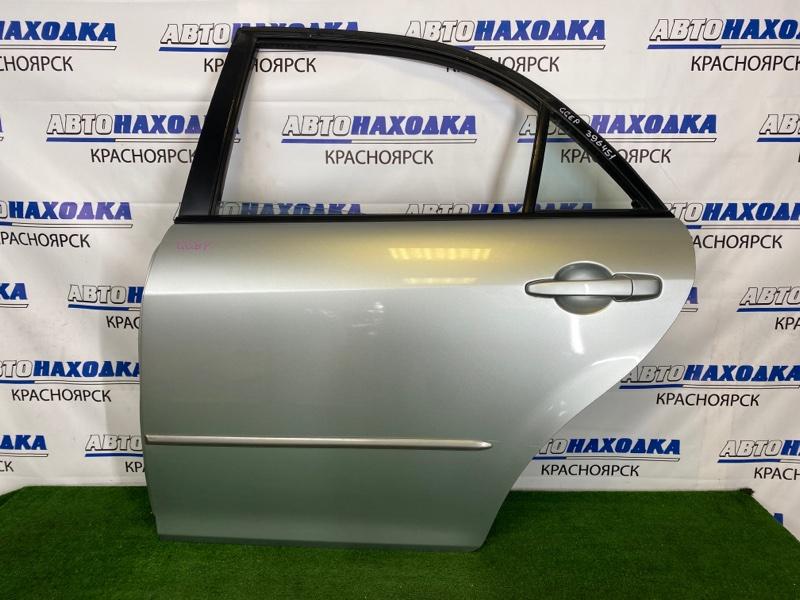 Дверь Mazda Atenza GGEP LF-DE 2002 задняя левая В целом ХТС, задняя левая, серебристая, в сборе,