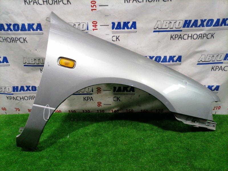 Крыло Nissan Primera P11 SR18DE 1997 переднее правое переднее правое, с повторителем. Цвет KR4. Есть