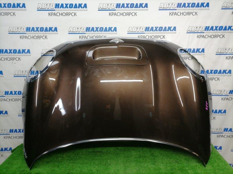 Капот Mini Clubman R55 N18B16A 2008 передний Коричневый, с воздухозаборником, хром ОК, есть
